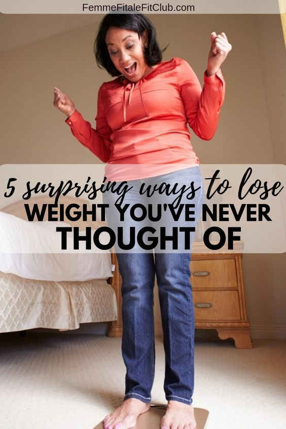 5 surprising ways to lose weight you've never thought of #weightloss #weightlosstips #weightlossforwomen