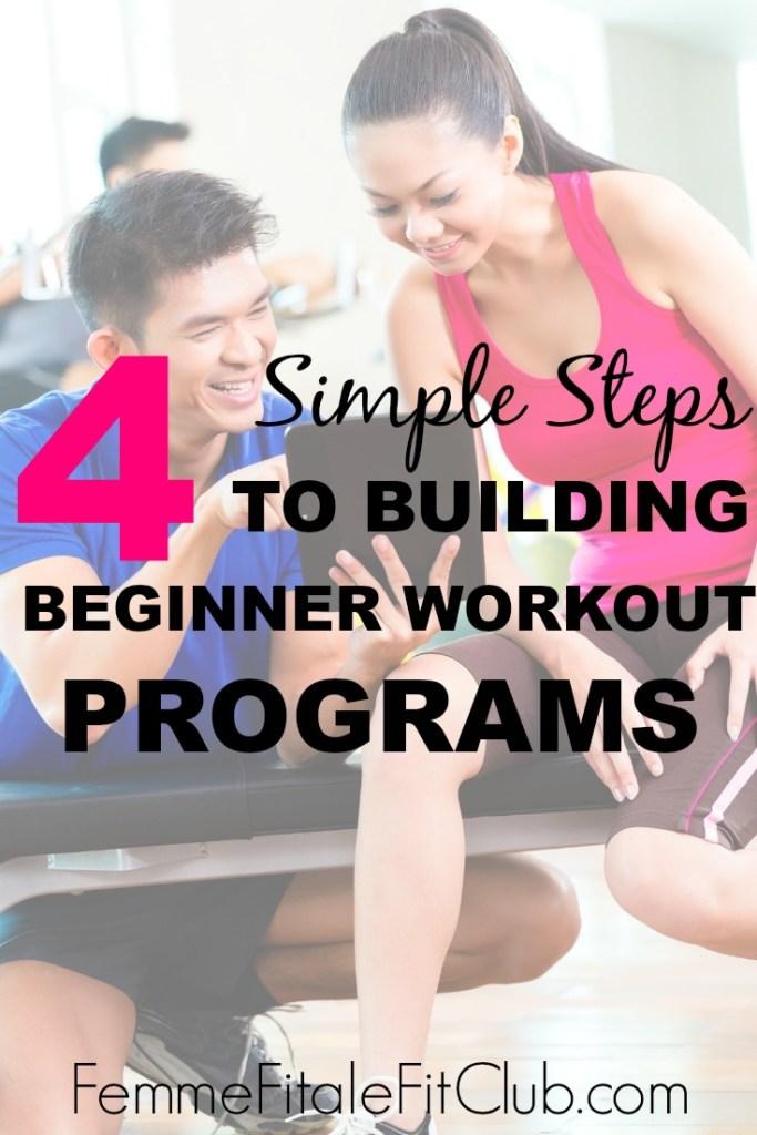4 Simple Steps to Building Beginner Workout Program #weightlosstips #fatlosstips #fitness