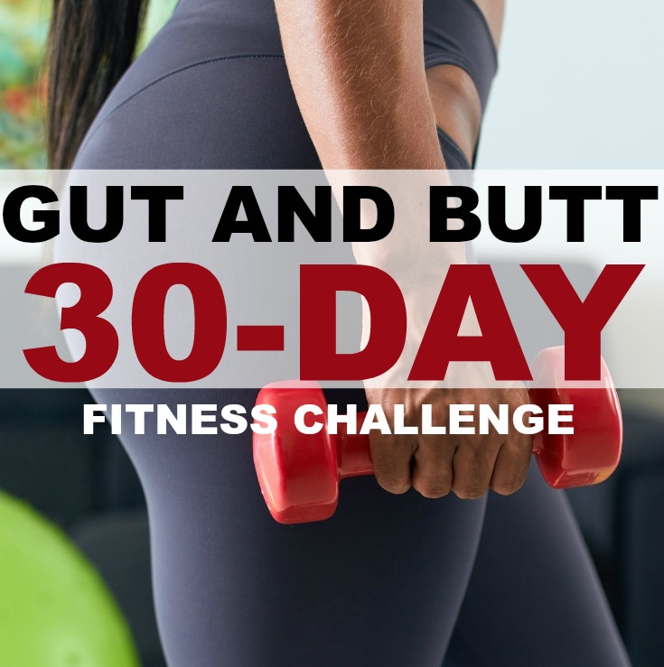 Gut and Butt Fitness Challenge #squatchallenge #abchallenge #fitnesschallenge #fitness