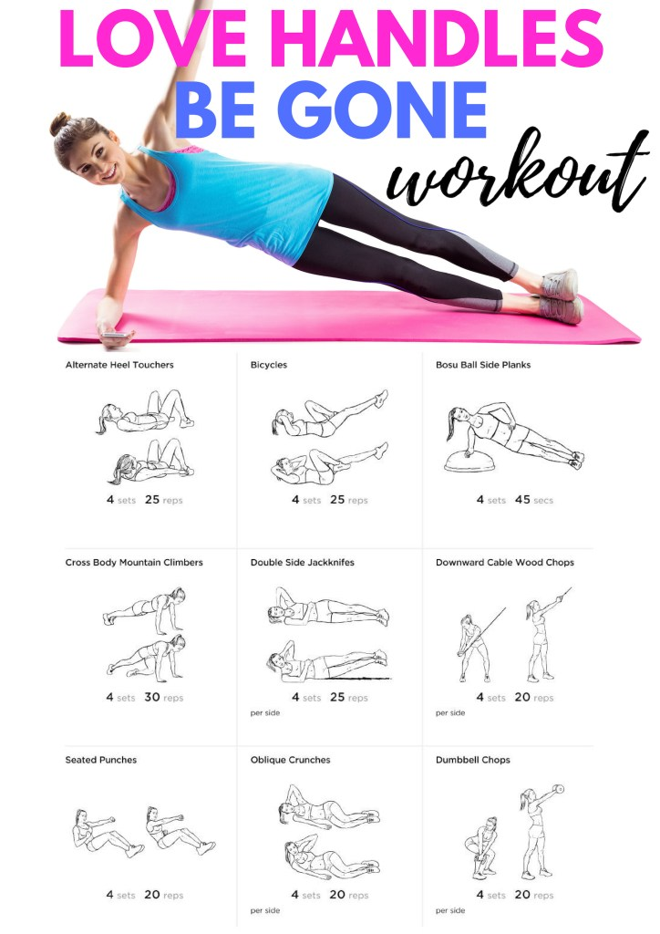 Strengthen your waist and tone your love handles with this workout. #obliques #lovehandles #abs #exercise #gymworkout #cablemachine #planks