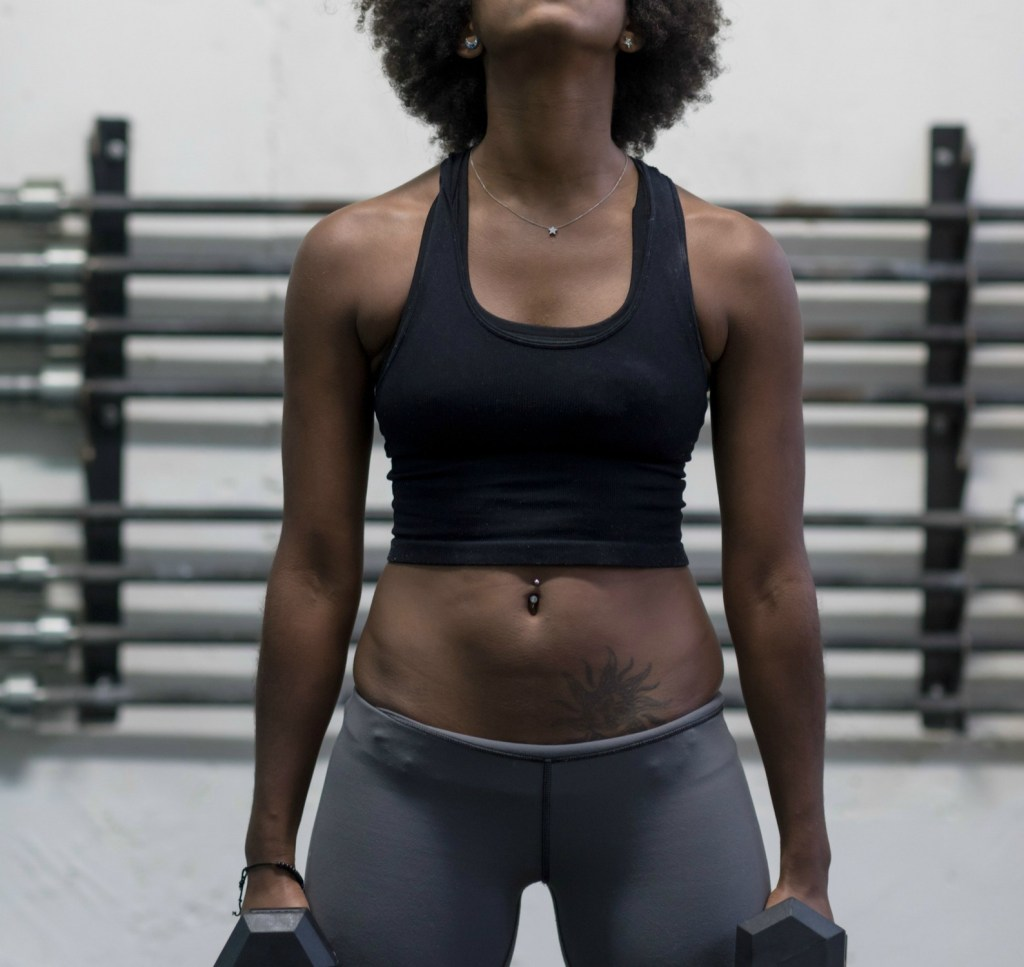 woman with flat abs