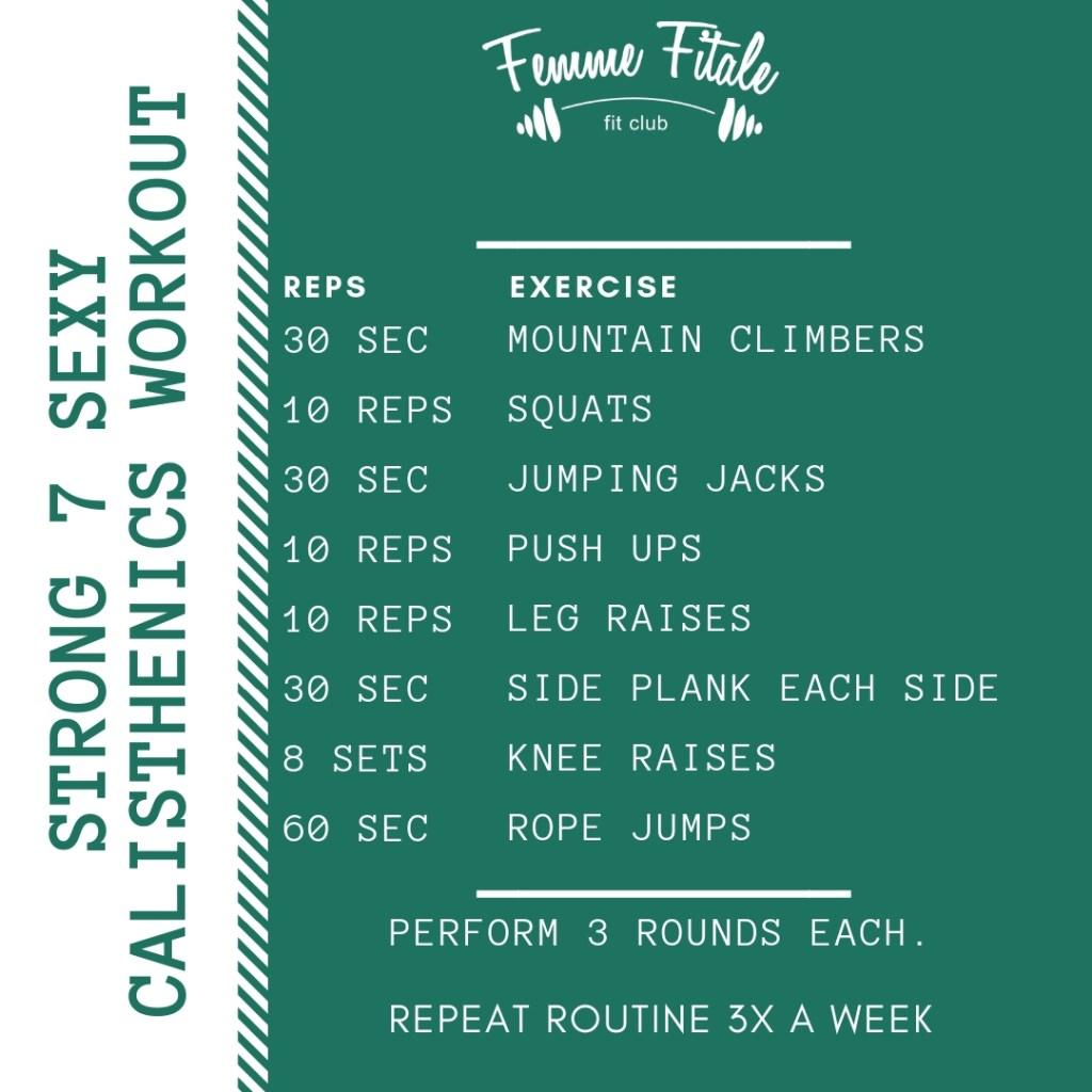 Strong 7 Sexy Calisthenics Workout #exercise #workout #calisthenics #fitness #fatloss #weightloss (1)