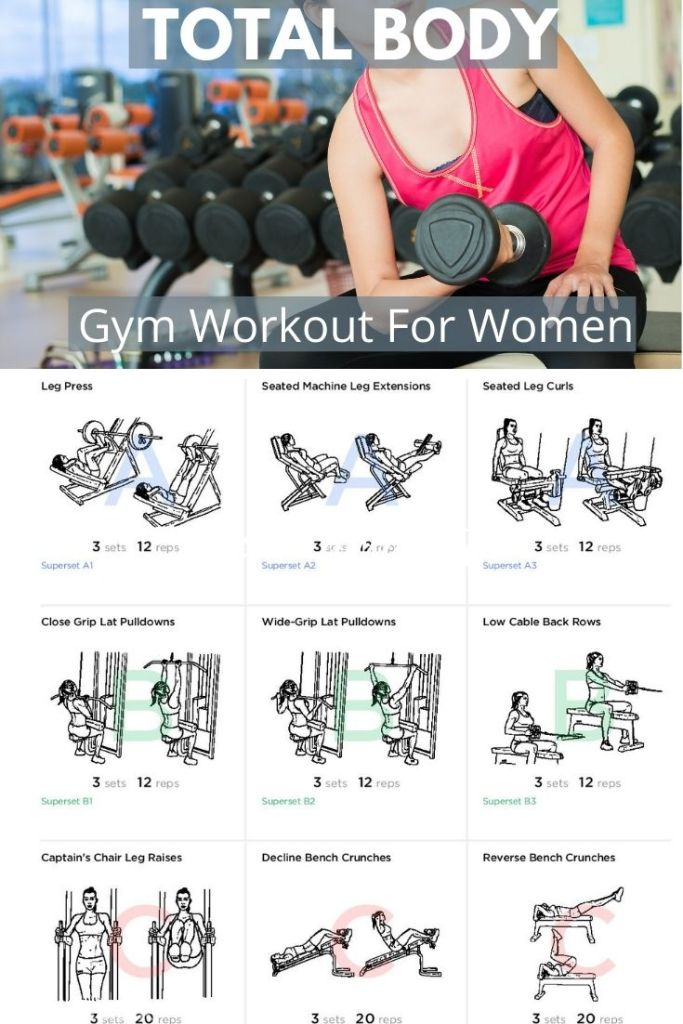 Take your fitness up a notch with this total body gym workout using machines.  #womenshealth #fitness #getfit #legpress #latpulldowns #seatedrows #woringmachine #gymworkout #fatburningworkouts
