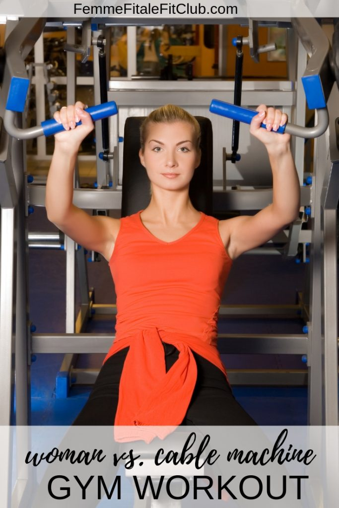 Woman vs. Cable Machine Gym Workout #cablemachine #fitness #exercise