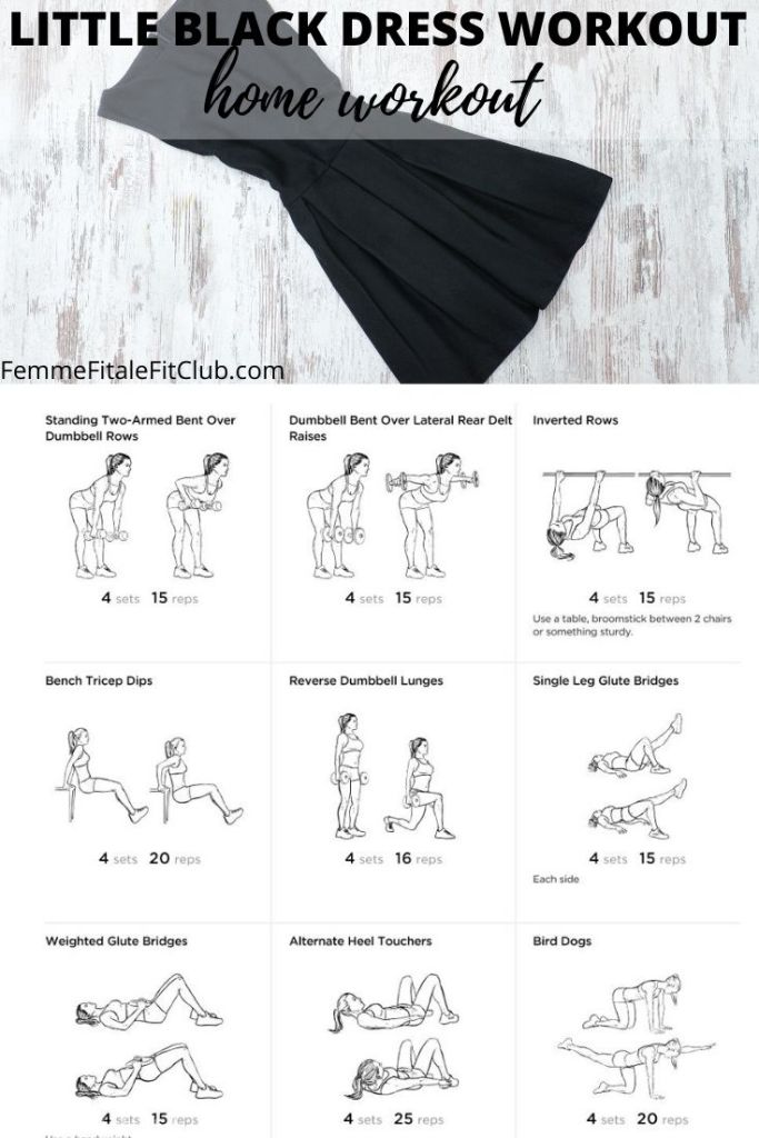 Need to get ready for a special occasion and want to fit into your little black dress? Then this workout you can do at home is just what you need to tone. #lbdworkout #workout #workoutprogram #athomeworkout #fitness #exercise #buildmuscle #gym #gymworkout #littleblackdress #fullbodyworkout