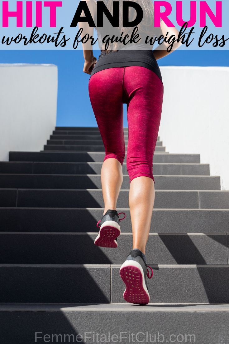 HIIT And Run Workouts For Quick Weight Loss #cardio #hiit #weightloss #womenshealth #weightlossforwomen #speed #sprints #runner #run #runnersworld