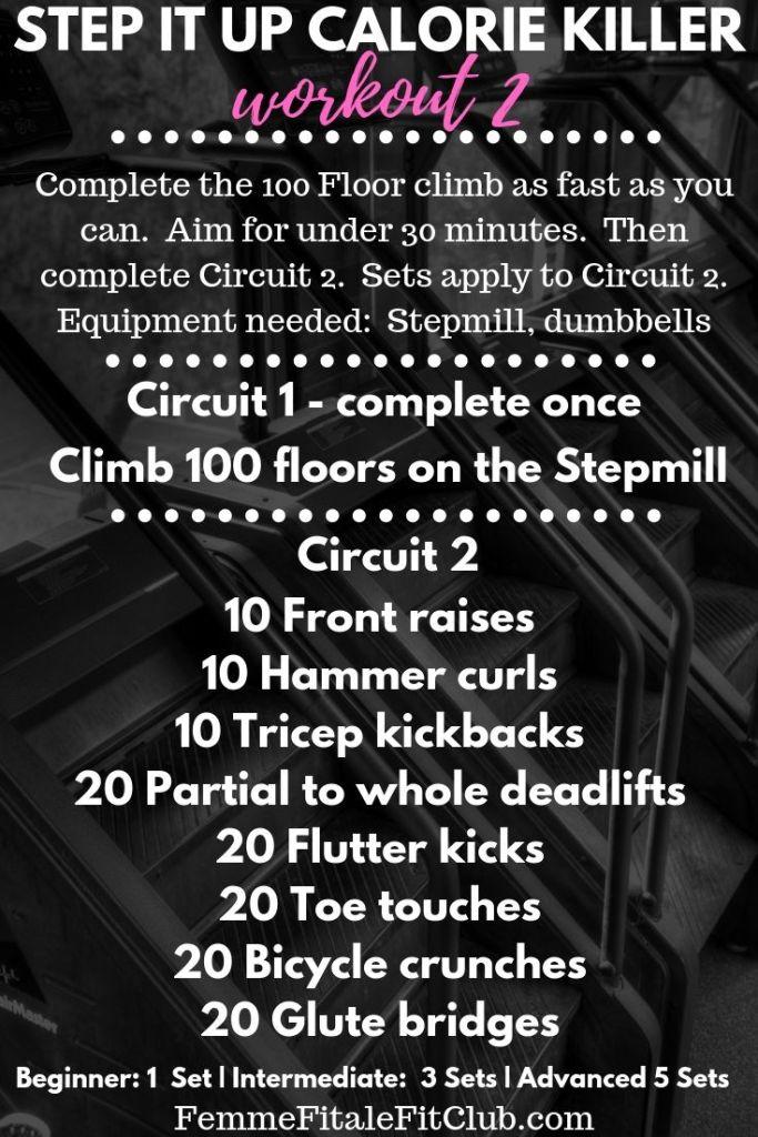 Step it up Calorie Killer Workout  #kettlebells #kettlebellworkout #calorietorcher #caloriekiller #exerciseequipment #kbworkoutforwomen #kbworkouts