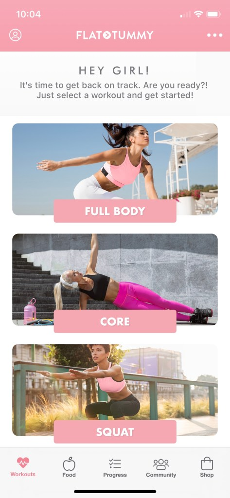 Flat Tummy App home screen #babenation #flattummyapp #workout #fitness #nutrition