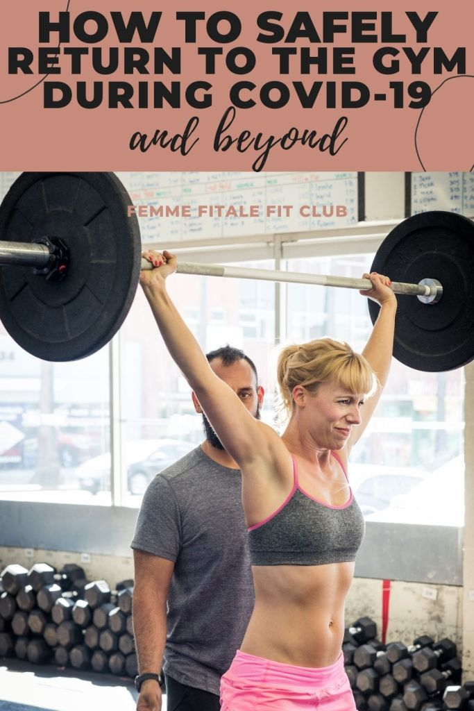 If you are fully vaccinated and ready to get back into the gym during the COVID-19 pandemic do so safely with these 5 tips. #COVID19 #backtothegym #gymworkout #gymetiquette #gymrules #pandemic #healthy