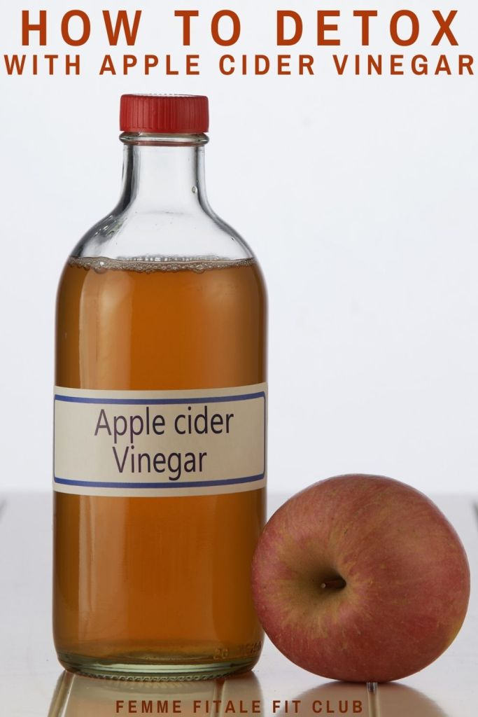 Learn how detoxing with apple cider vinegar (ACV) can help you reach your weight loss goals.  #acv #acvdetox #detox #applecidervinegarforweightloss #weightloss #applecidervinegar