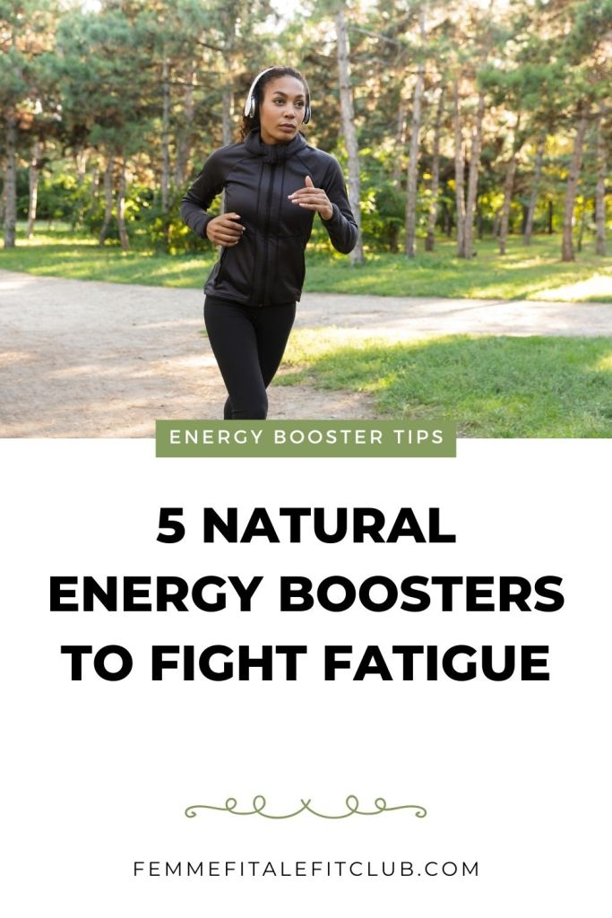 Are you fatigued and tired all the time?  Then you want to know more about 5  natural energy boosters to help put some pep back in your step. #naturalenergybooster #energyboost #energy #foodsthatgiveyouenergy #healthfoodsthatboostenergy #tired #chronicfatigue