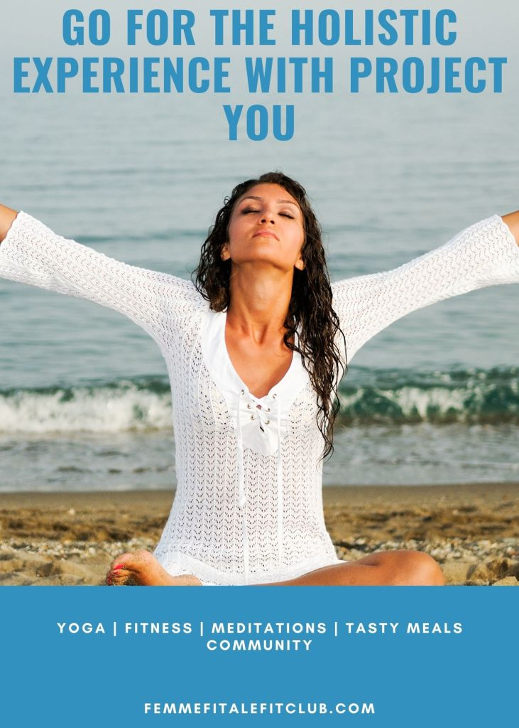 Take a more holistic approach to your health and wellness with the Project You program in order to get the whole experience.  This program is a well-rounded program that includes a virtual studio with yoga and workout videos along with workshops and mindfulness homework exercises.  You can also sign up and try it for free for 7 days.  Let's do this.  #wellness, #mindfulness, #meditation, #workouts, #yoga #mealplan #fitnesscommunity
