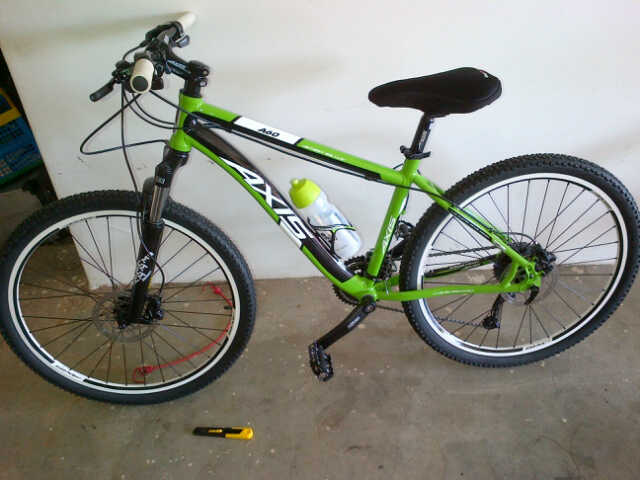 My first mountain bike at home in the garage