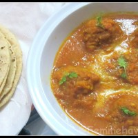 Kathal-Kofta (Fried Jack-fruit balls in rich spicy gravy)