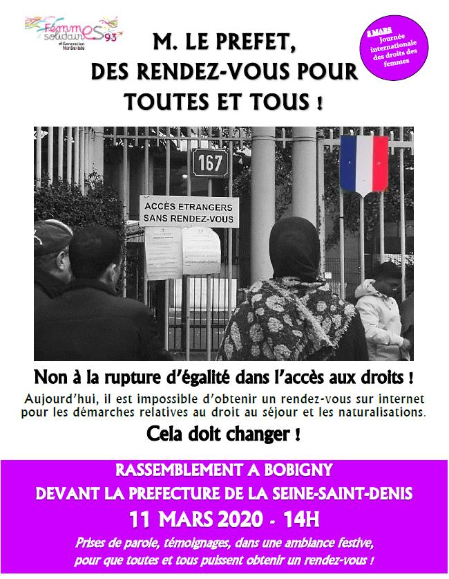 You are currently viewing Bobigny – Rassemblement – M. le Préfet, des rendez-vous pour  toutes et tous !