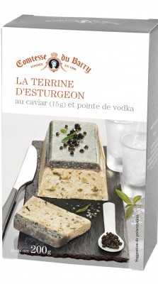 Terrine esturgeon caviar pointe de vodka