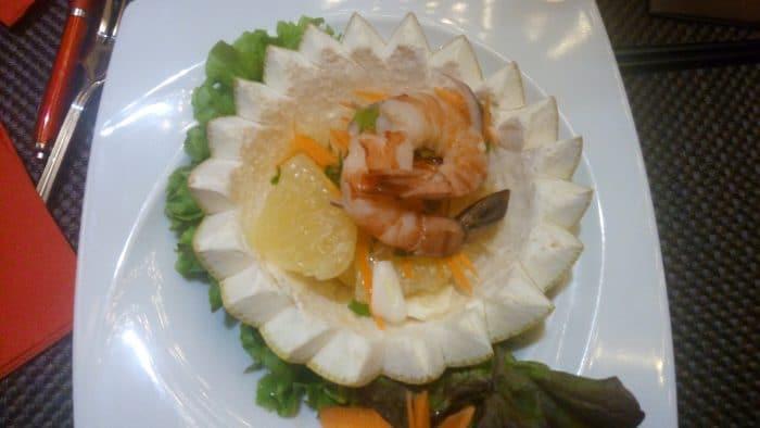 salade d'ananas fraiche aux crevettes