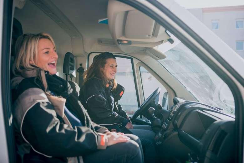 « Quand Sarah et M. Patouillet nous ont proposés de choisir le camion avec lequel nous allions travailler, nous nous sommes toutes tournées vers le Boxer. »