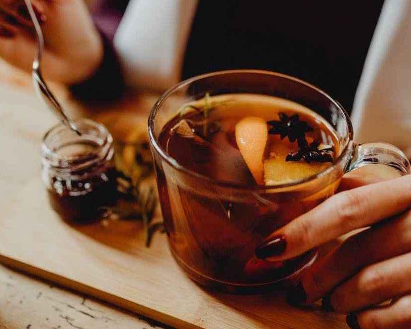 Black Ginger Tea For Cough With Phlegm