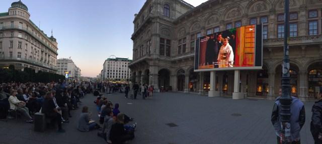 Apresentação na ópera de Viena.