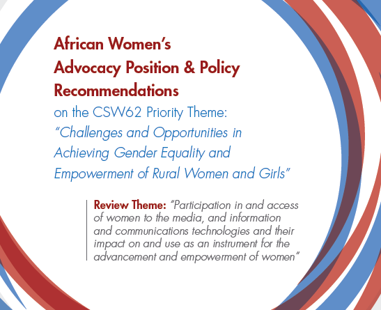 African Women's Advocacy Position & Policy Recommendations to CSW62