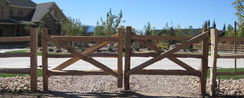 Split Rail Double Gate Fence Amp Deck Supply
