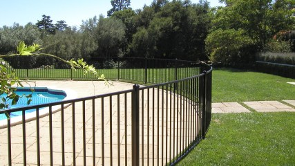 Image result for glass pool fence los angeles