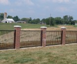 residential steel fence