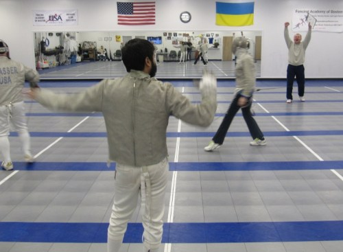 Fencing Director Referee a Bout