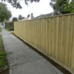 Timber Paling Fencing, With Capping