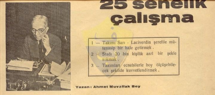 Fenerbahçe'nin İlk 25 Yılı