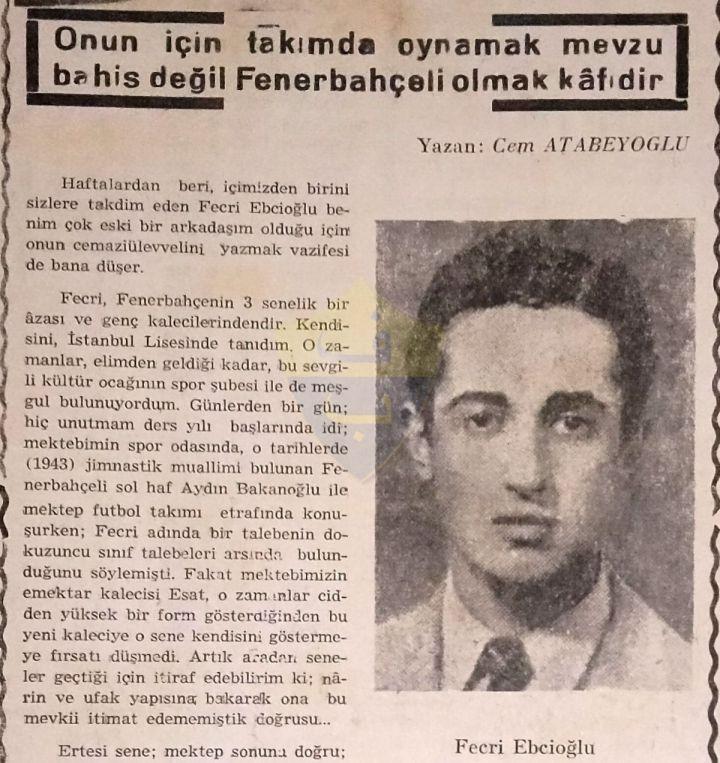 Şampiyon Fenerbahçe Hentbol Takımının Sanatçı Kalecisi Fecri Ebcioğlu