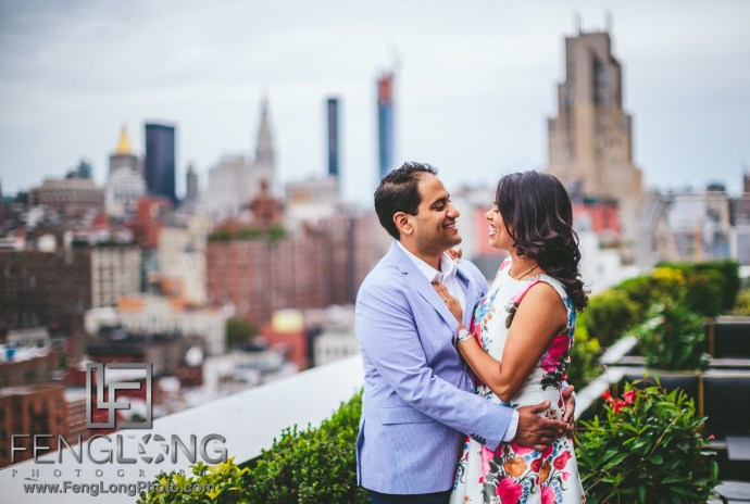 New York City Indian Engagement Session Dream Hotel High Line