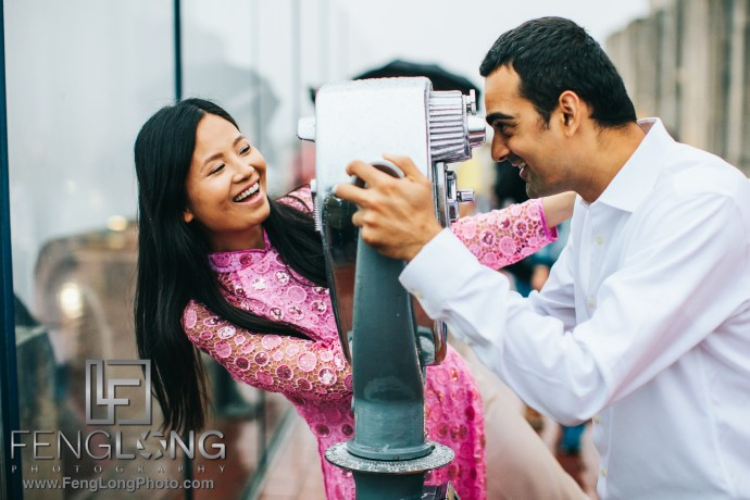Top of the Rock Indian engagement session New York City