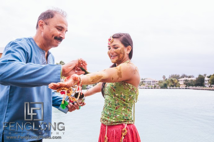 Hawk's Cay Fusion Jewish Indian Wedding Puja Ceremony