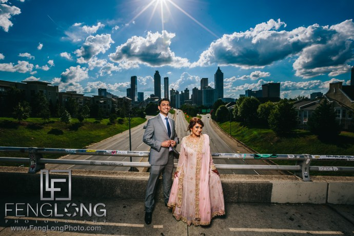 Atlanta Jackson Street Bridge Indian Wedding Photography