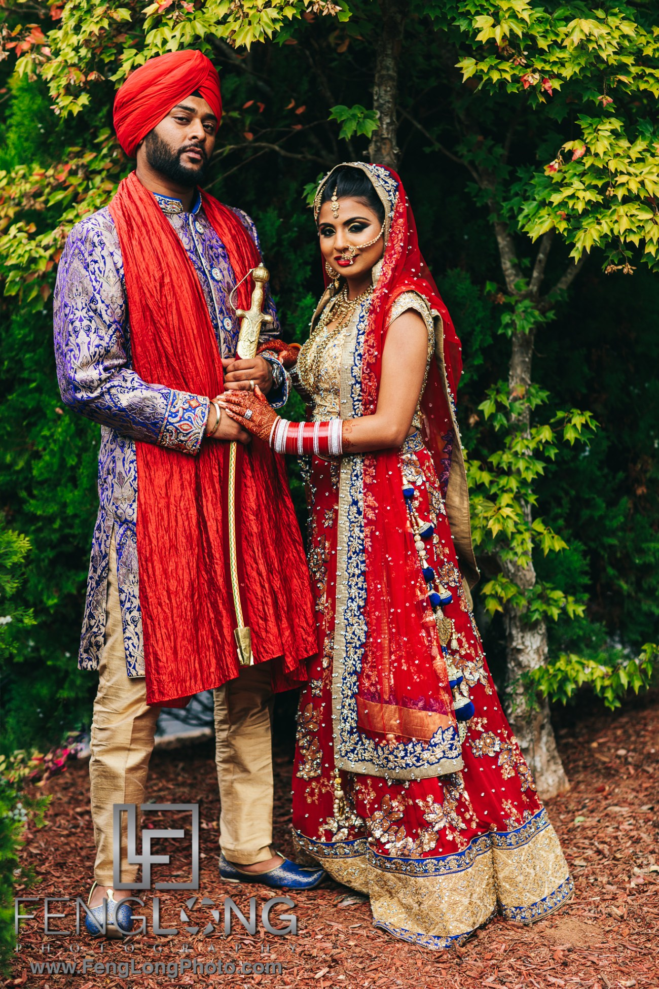 Sikh Indian Wedding Photography Ceremony Bride and Groom