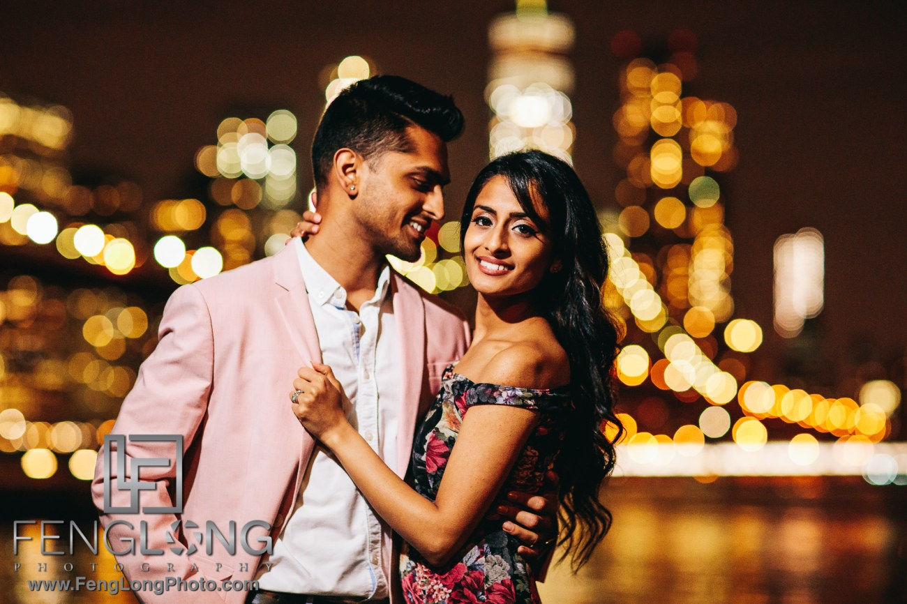 Indian Engagement Session in Brooklyn Bridge Park New York City