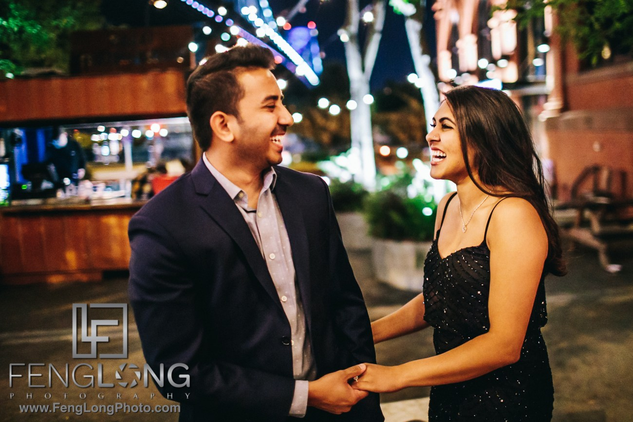 Philadelphia Indian Engagement Session at Night