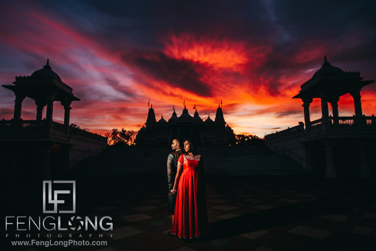 Radha Nilkanth Sunrise Engagement at BAPS Mandir Atlanta