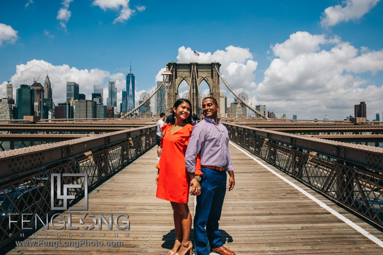 Alice & Mohit Brooklyn Proposal & Engagement Session