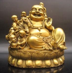 Buda y niños