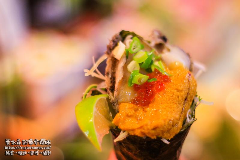 竹圍漁港56號許記生魚片【大園美食】 隱藏於竹圍直銷中心內的超人氣浮誇立吞日式料理 @黃水晶的瘋台灣味