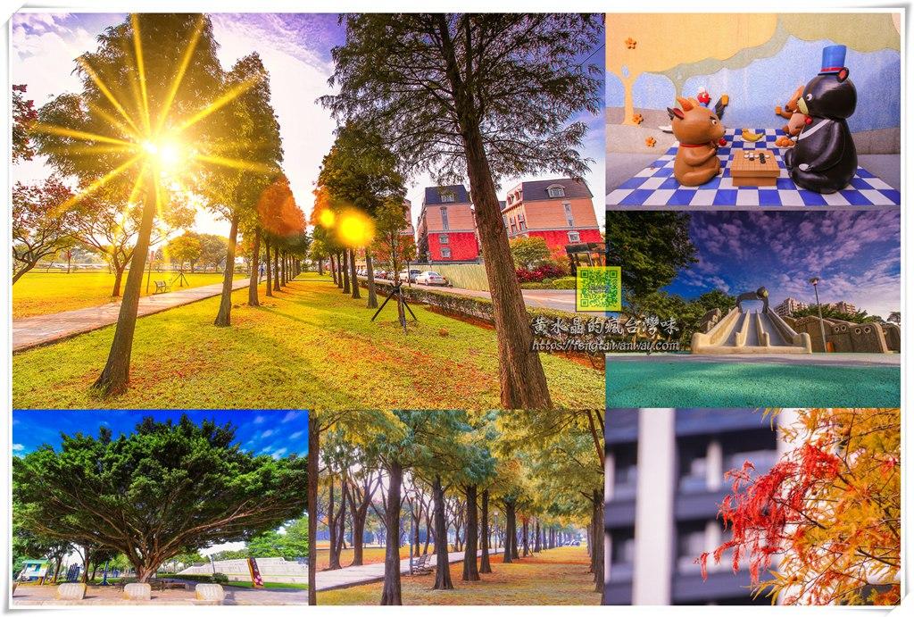 玉山公園【桃園景點】|桃園監理站旁賞落羽松景點還有台灣黑熊溜滑梯可玩耍 @黃水晶的瘋台灣味