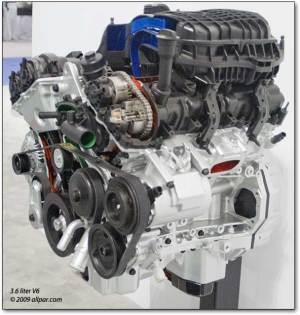 Silnik Chrysler V6 36 DOHC PENTASTAR  Części z USA daw