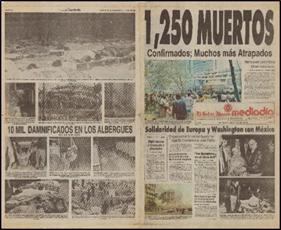 Periódico El Sol de Mediodía. 20 de septiembre de 1985.