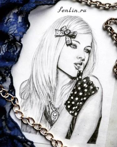 Портрет карандашом Аврил Лавин (Avril Lavigne) - Fenlin.ru