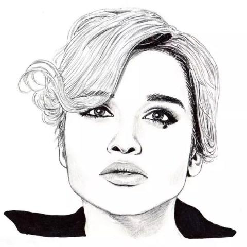 Портрет карандашом Ксении Бородиной - Fenlin.ru