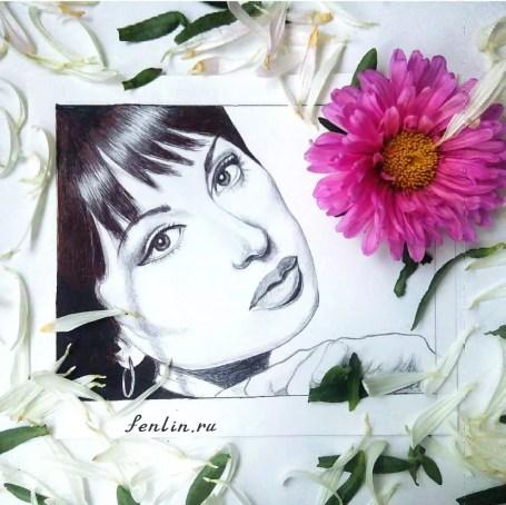 Портрет карандашом прекрасной девушки (фото) - Fenlin.ru
