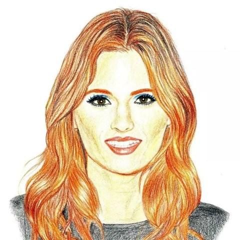 Цветной портрет карандашом Станы Катич (Stana Katic) - Fenlin.ru